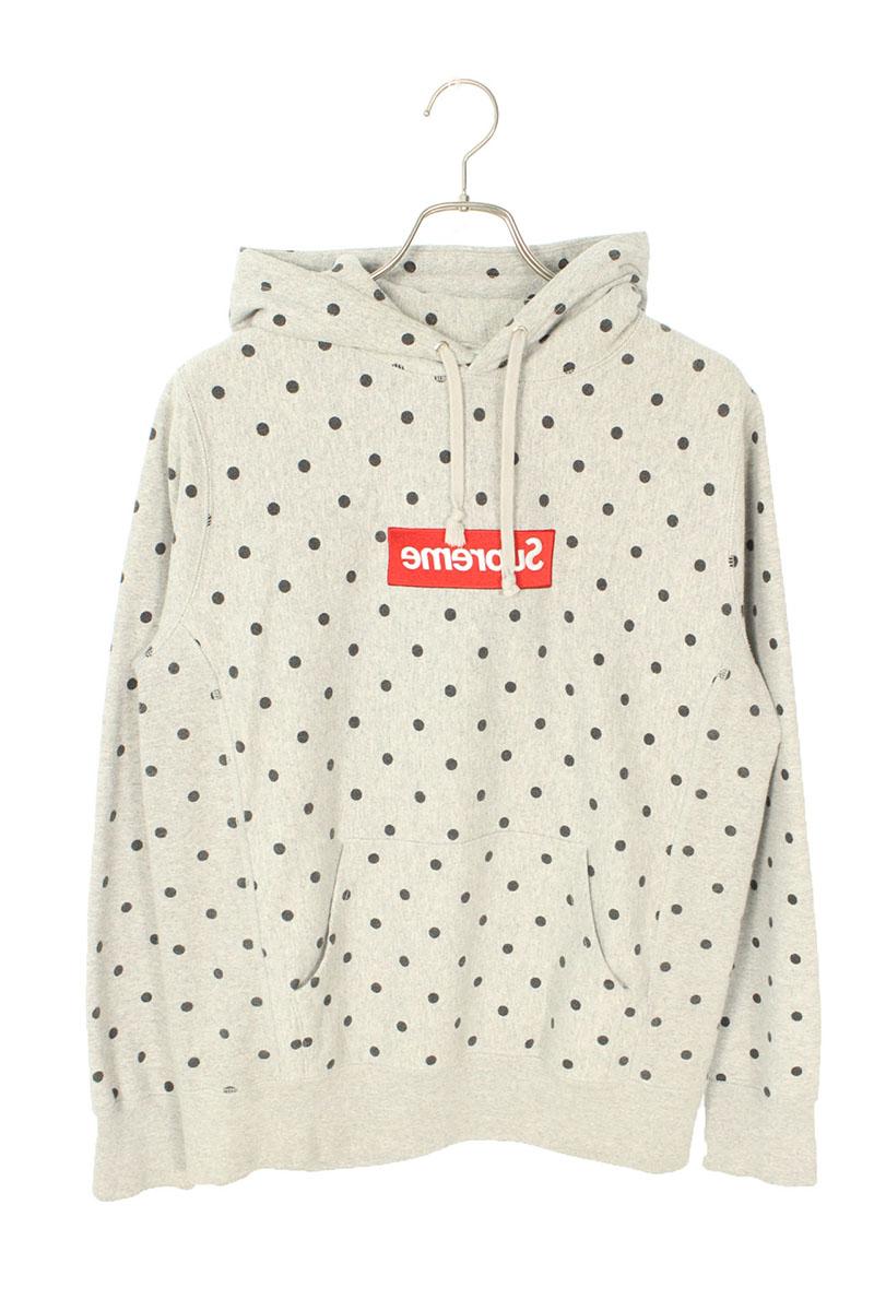 シュプリーム SUPREME × コムデギャルソンシャツ COMME des GARCONS SHIRT×DSMG Box Logo Pullover 反転ボックスロゴドット柄プルオーバーパーカー