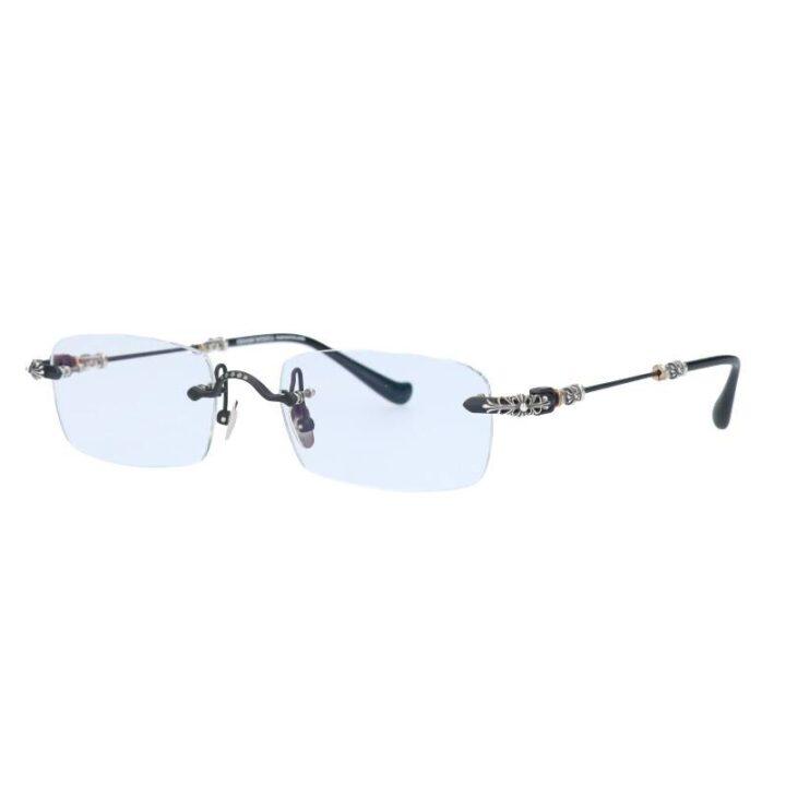 クロムハーツ Chrome Hearts PILLS Ⅲ フローラルテンプルリムレス眼鏡