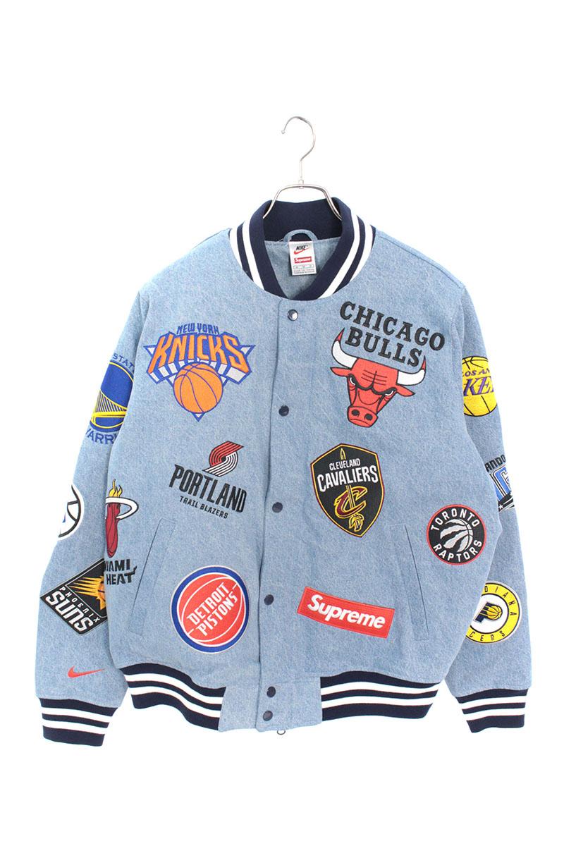 シュプリーム SUPREME × ナイキ NIKE NBA Teams Warm-Up Jacket NBAチームウォームアップデニムジャケット