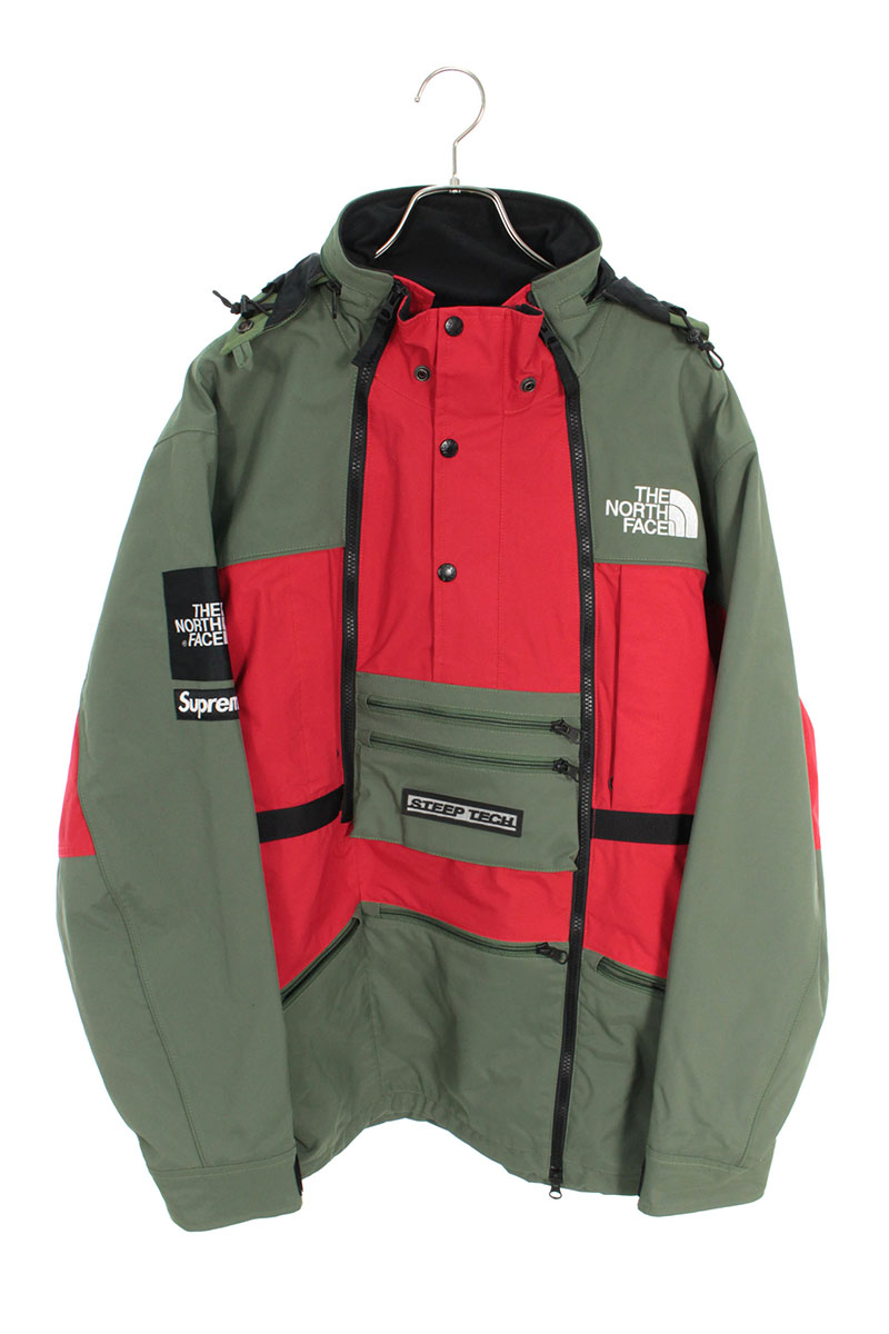 シュプリーム SUPREME ×ノースフェイス THE NORTH FACE Steep Tech Hooded Jacket マルチポケットマウンテンパーカージャケット