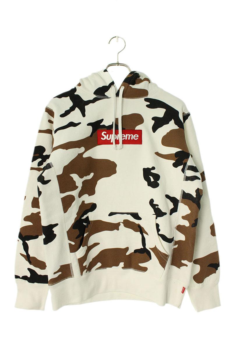 シュプリーム SUPREME Box Logo Hooded Sweatshirt ボックスロゴカモフラ柄フーデッドスウェットパーカー