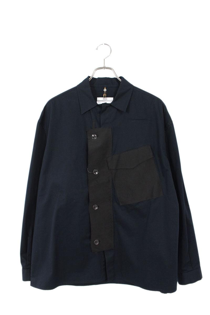 オーエーエムシー OAMC OAMN601531 素材切替長袖シャツ
