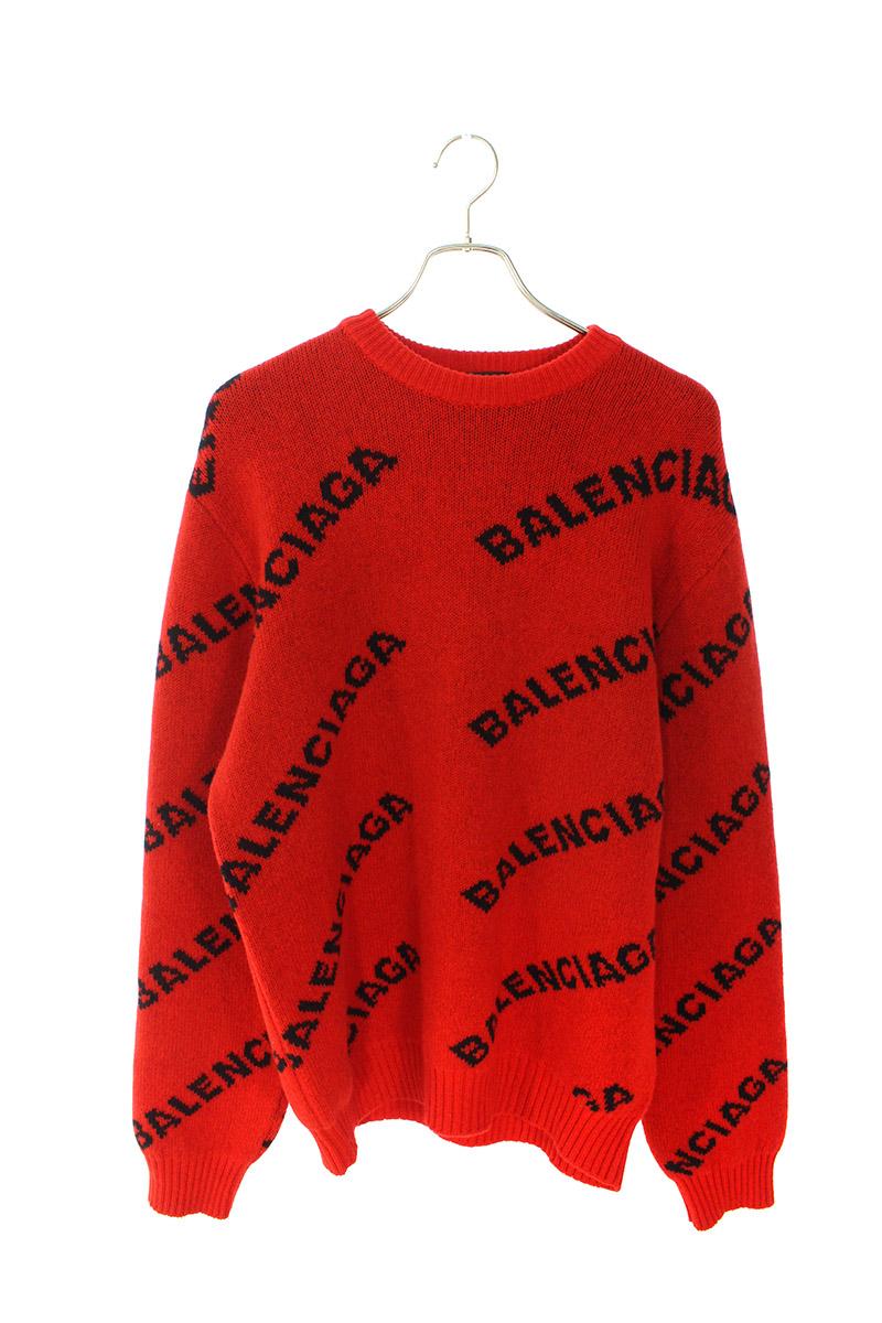 バレンシアガ BALENCIAGA 547831 T1473 オールオーバーロゴジャガードニット