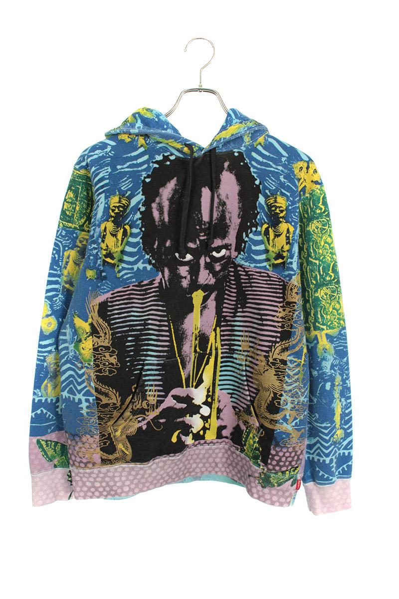 シュプリーム SUPREME Miles Davis Hooded Sweatshirt マイルス・デイヴィス プリントプルオーバーパーカー
