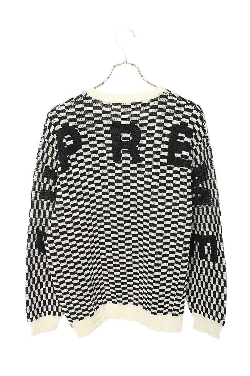 シュプリーム SUPREME Back Logo Sweater チェック柄バックロゴニット
