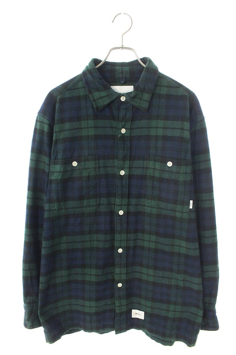 ダブルタップス WTAPS 192TQDT-SHM01 チェック柄長袖シャツ