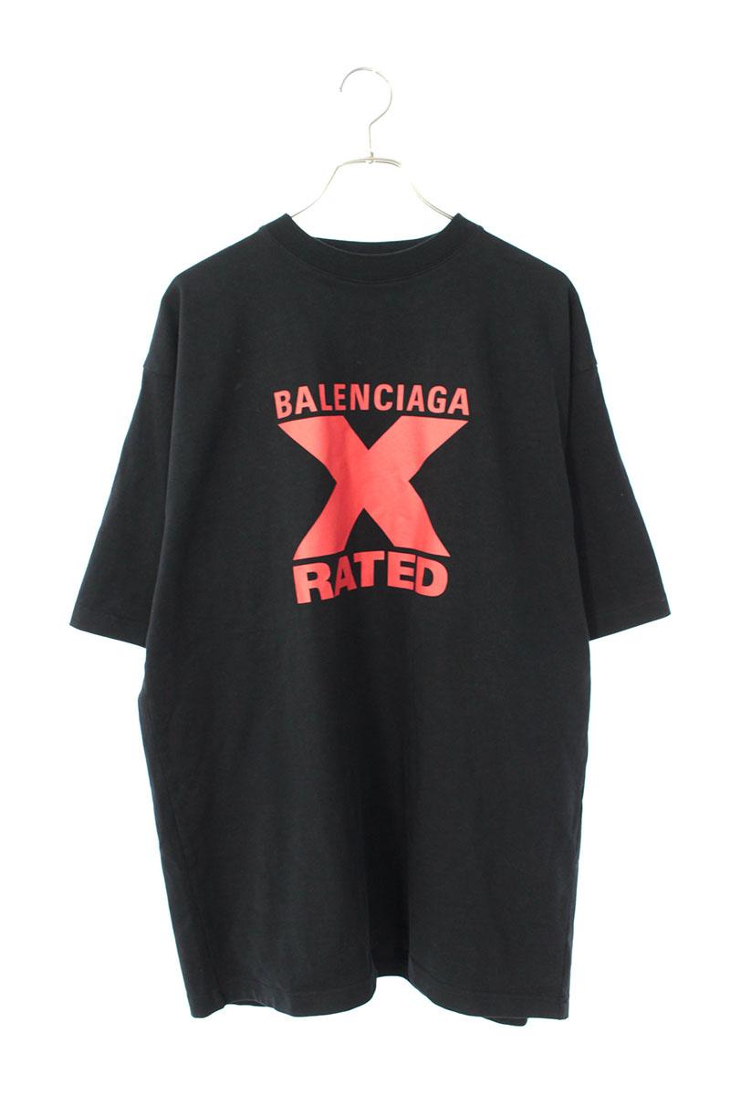 バレンシアガ BALENCIAGA 620969  TIVA7 フロントデザインTシャツ
