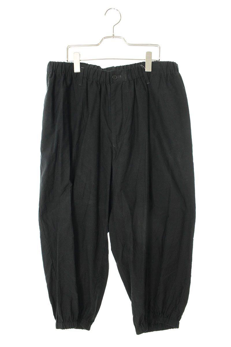 ヨウジヤマモト Yohji Yamamoto HN-P32-013 Cotton twill gather pants コットンツイルギャザーロングパンツ