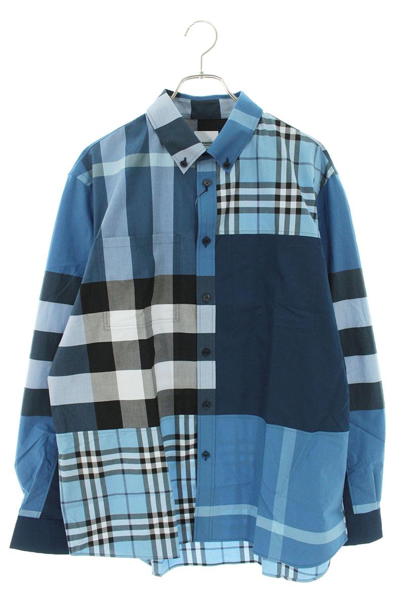 バーバリー Burberry 803865/A9146 パッチワークオーバーサイズコットンシャツ