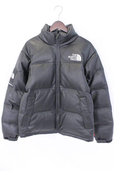 シュプリーム Supreme  × ノースフェイス(THE NORTH FACE) Leather Nuptse Jacket ダウンジャケット