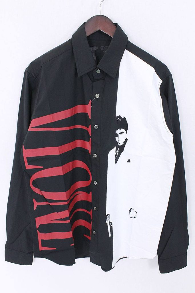 ヴィーロン VLONE Scarface Shirts ×Scarfaceプリント長袖シャツ