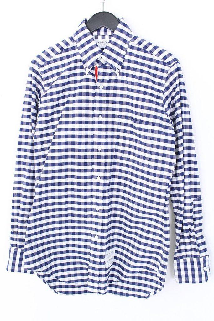 トムブラウン THOM BROWNE グログランテープボタンダウンチェックシャツ