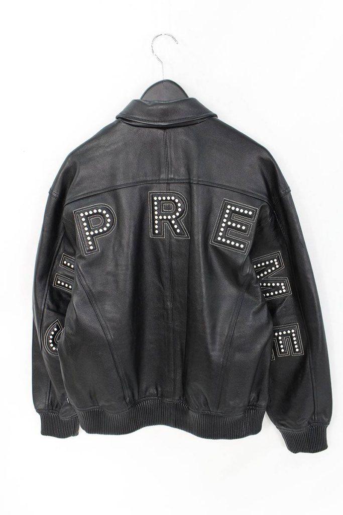 シュプリーム SUPREME Studded Arc Logo Leather Jacket スタッズアーチロゴレザージャケット