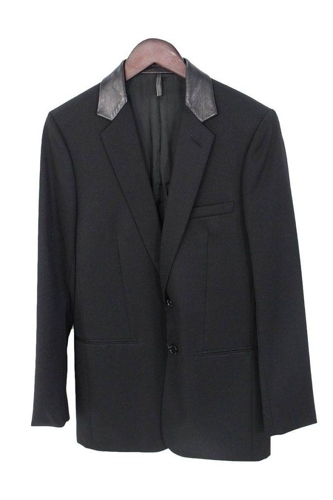 ディオールオム DiorHOMME レザーラペル2Bテーラードジャケット
