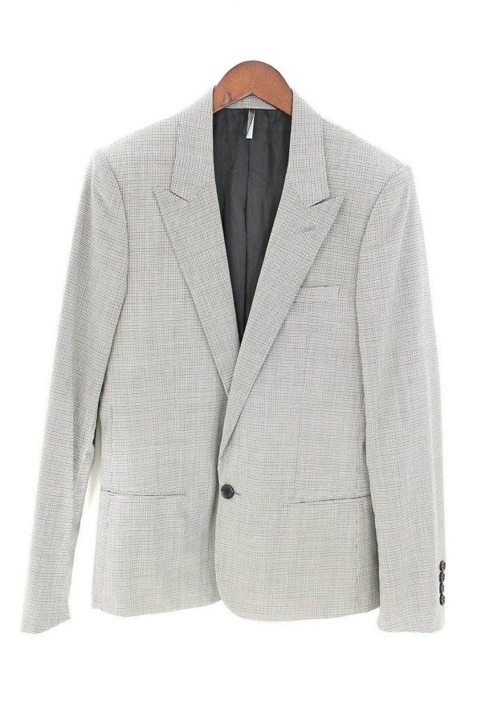 ディオールオム DiorHOMME 6EH1021872 ピークドラペル総柄1Bジャケット