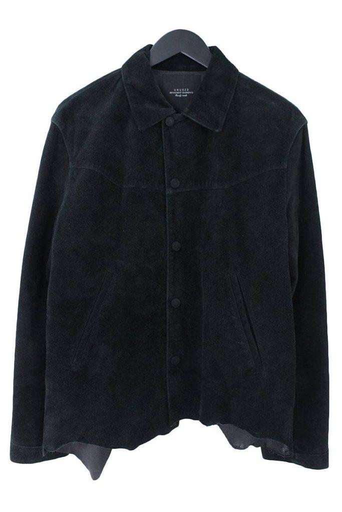 アンユーズド UNUSED US1094 Cow suede jacket スエードレザーシャツ