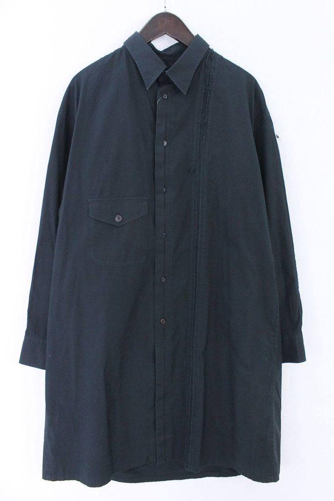 ヨウジヤマモトプールオム Yohji Yamamoto POUR HOMME HO-B27-037 コットンロング長袖シャツ