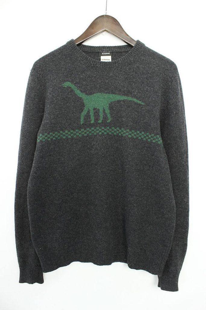 ジルサンダー JIL SANDER 恐竜デザインニットセーター