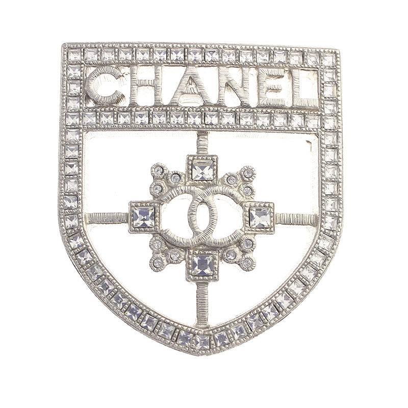 シャネル CHANEL B16/V ジルコニア装飾シルバーブローチ