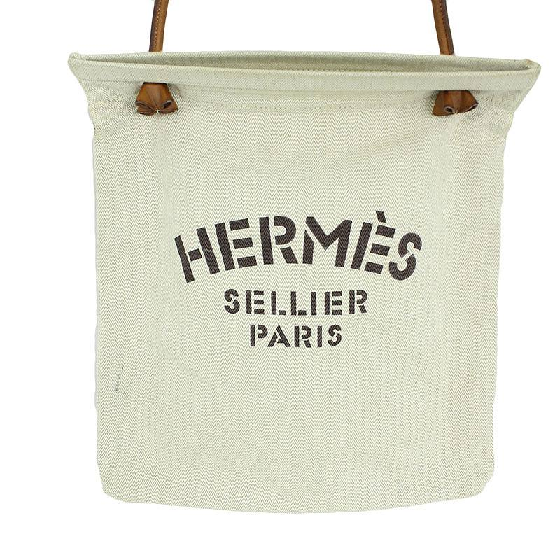 エルメス HERMES アリーヌPM キャンバスロゴプリントショルダーバッグ