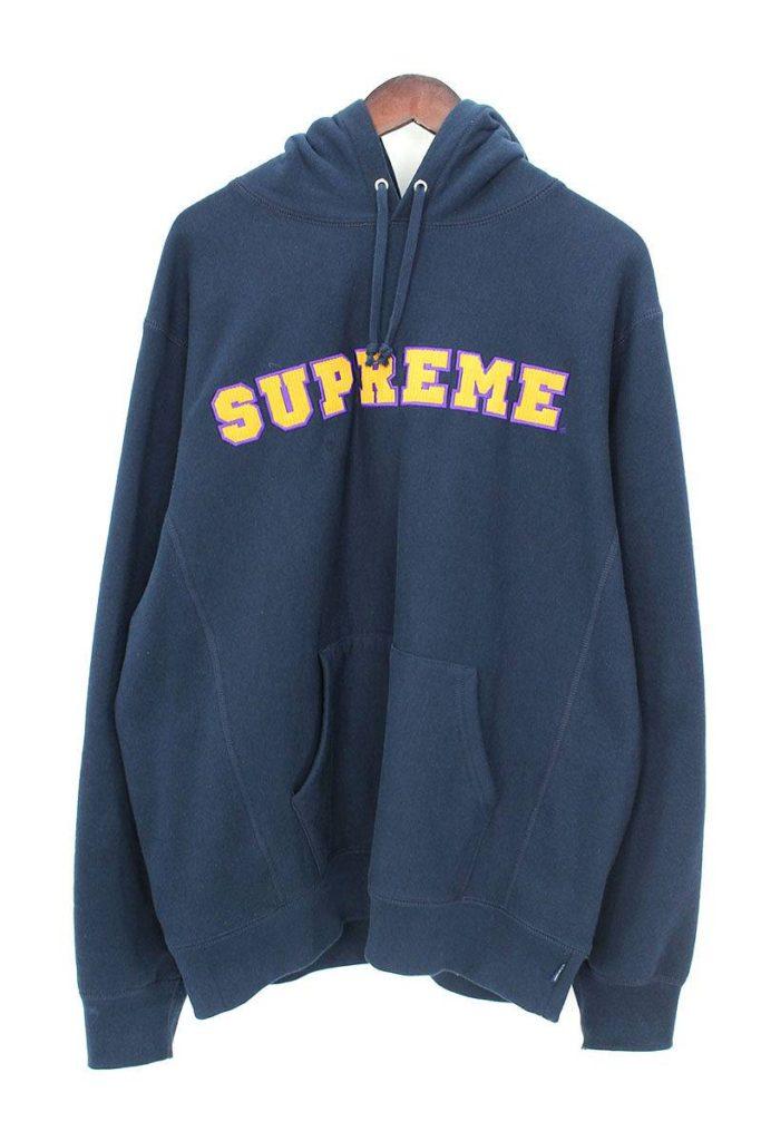 シュプリーム SUPREME Cord Collegiate Logo Hooded Sweatshirt カレッジロゴプルオーバーパーカー