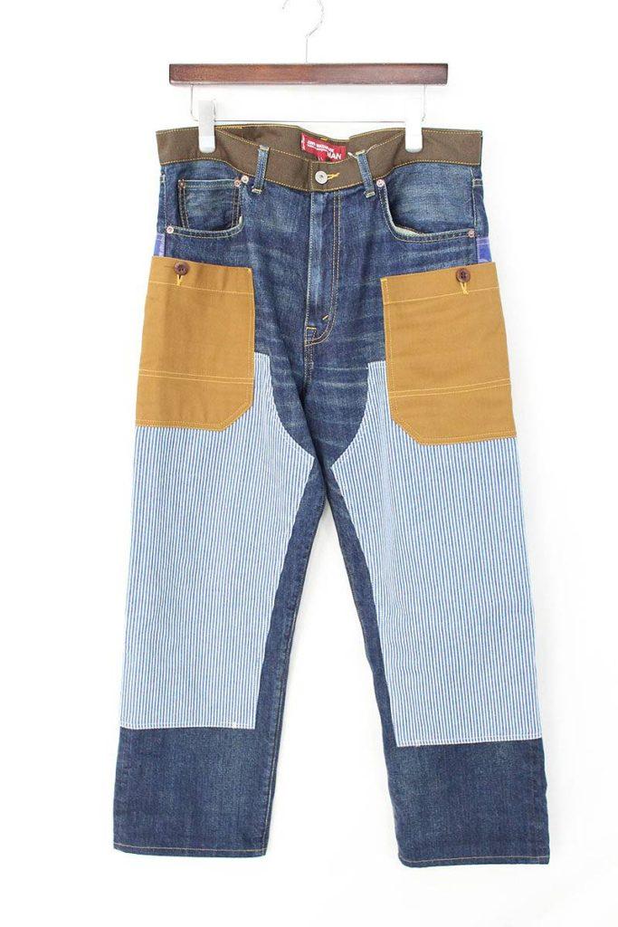 コムデギャルソンジュンヤワタナベマン JUNYA WATANABE MAN WA-P202  Patchwork Jeans 解体再構築パッチワークリメイクデニムパンツ