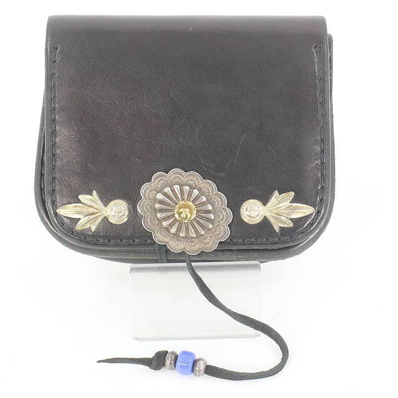 ゴローズ goro's GC-03/金メタル付きフラワー イーグル刻印コンチョカスタム財布