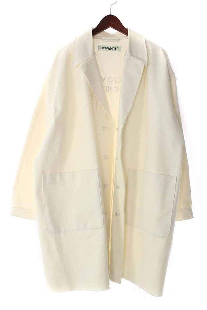オフホワイト OFF-WHITE バックバイアスポケットチェスターコート