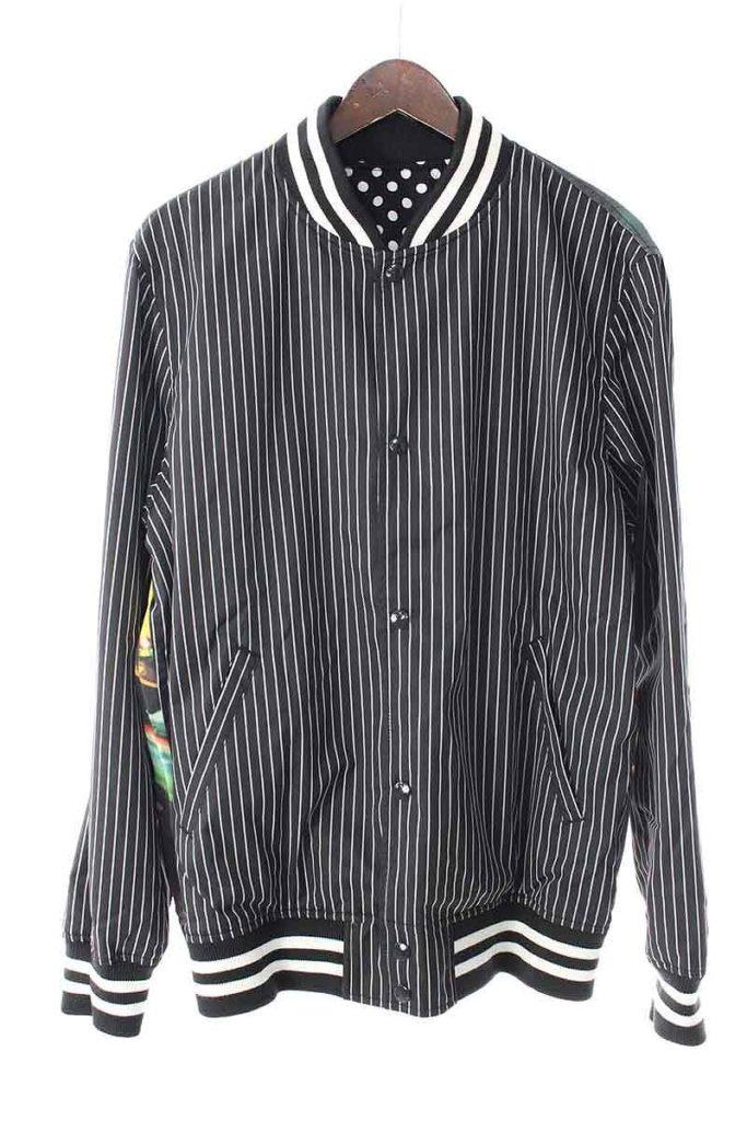 シュプリーム SUPREME × コムデギャルソンシャツ COMME des GARCONS SHIRT Reversible Varsity Baseball Jacket リバーシブルブルゾンジャケット