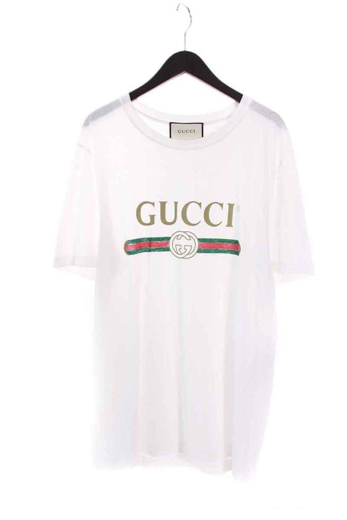 グッチ GUCCI 440103-X3F05 ヴィンテージ加工オールドロゴTシャツ