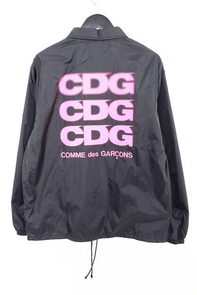 コムデギャルソン COMME des GARCONS CDG LOGO COACHES JACKET OA-J005 AD2018バックプリントコーチジャケット