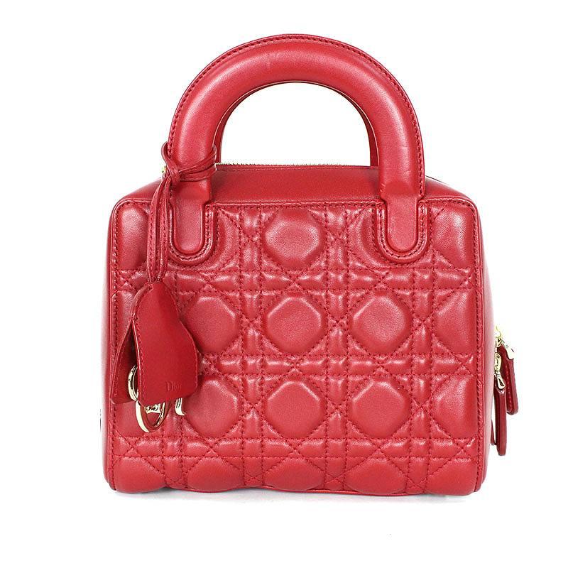 クリスチャンディオール Christian Dior レディディオール カナージュ2WAYレザーショルダーバッグ