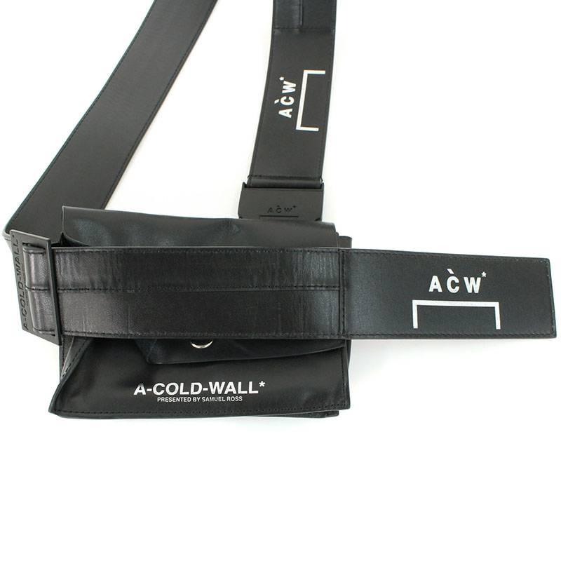 アコールドウォール A-COLD-WALL レザーロゴプリントショルダーバッグ