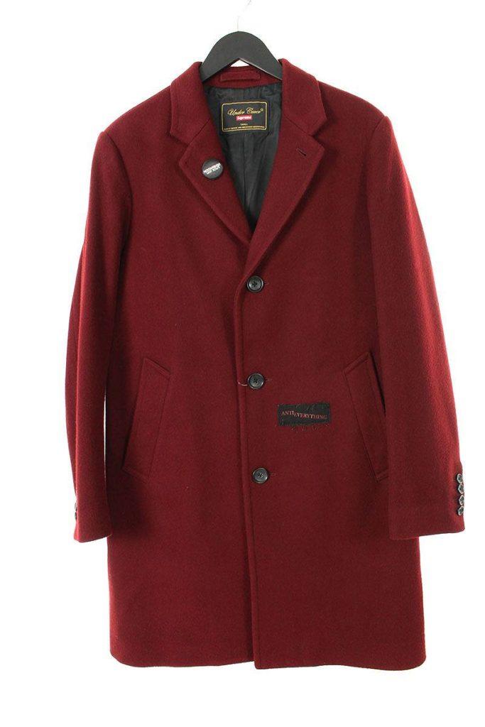 アンダーカバー UNDERCOVER Wool Overcoat パッチ付きウールオーバーコート