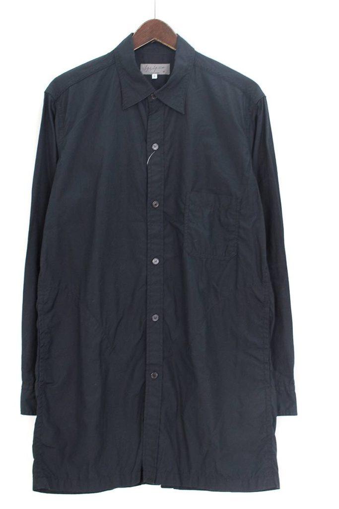 ヨウジヤマモトプールオム Yohji Yamamoto POUR HOMME HD-B02-001 バックボタンポケットシャツ