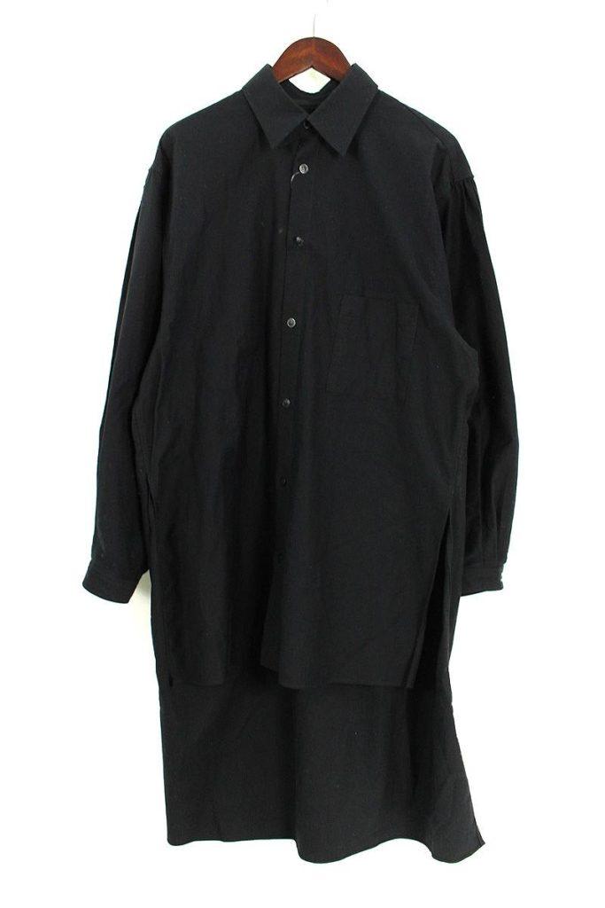 ヨウジヤマモト Yohji Yamamoto PRODUCE HD-B99-999 バックロゴスタッフ長袖シャツ