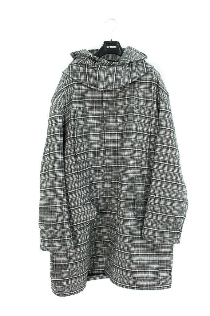 ラフシモンズ RAF SIMONS バックパッチデザイン中綿ロングコート