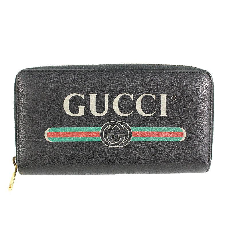 グッチ GUCCI 496317 オールドロゴラウンドジップロングウォレット財布