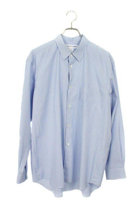 コムデギャルソンシャツ COMME des GARCONS SHIRT CDGS1ST オーバーサイズストライプ長袖シャツ