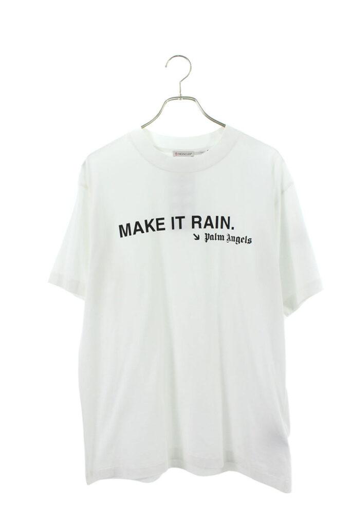 モンクレールジーニアスMONCLER GENIUS × パームエンジェルス PALM ANGELS ロゴプリントモックネックTシャツ