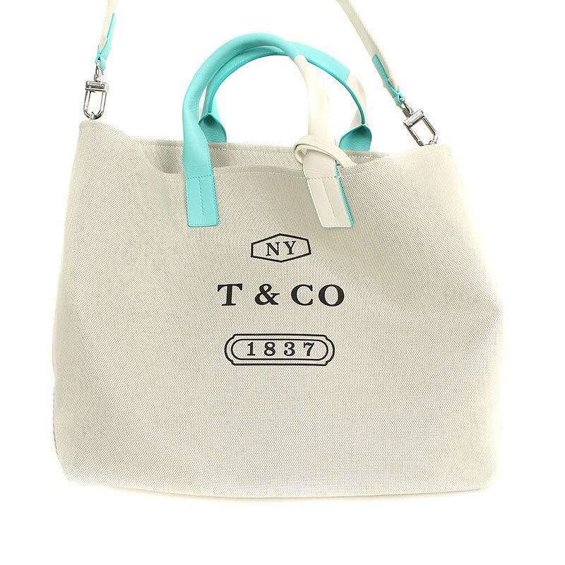 ティファニー TIFFANY&Co. ウィークエンドトート カラーブロックキャンバス2wayトートバッグ