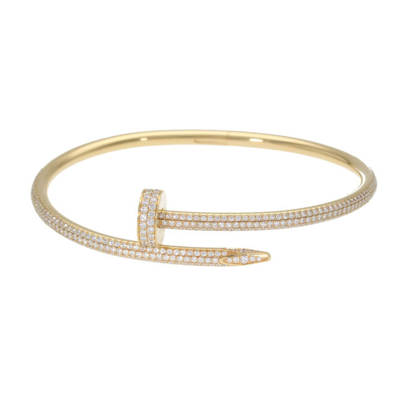 カルティエ Cartier 新型 JUSTE UN CLOU BRACELET DIA K18YGジュストアンクルゴールドダイヤブレスレット