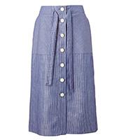 ウエストリボン ボタンスカート