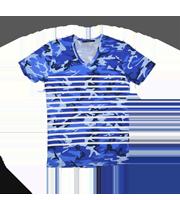 カモフラージュ×ボーダー柄Tシャツ