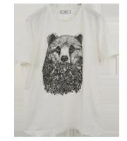 ベアデザインプリントTシャツ