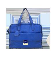 ロゴプレート付レザーハンドバッグ