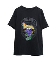 フロントリッププリントTシャツ