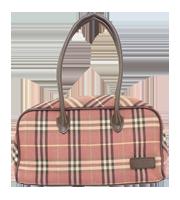 ロゴプレート付ハンドバッグ