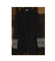 2012AW 袖ニット切替フードジャケット