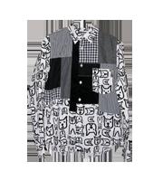 ×フィリップパゴウスキー ドックチェック柄パッチワークシャツ